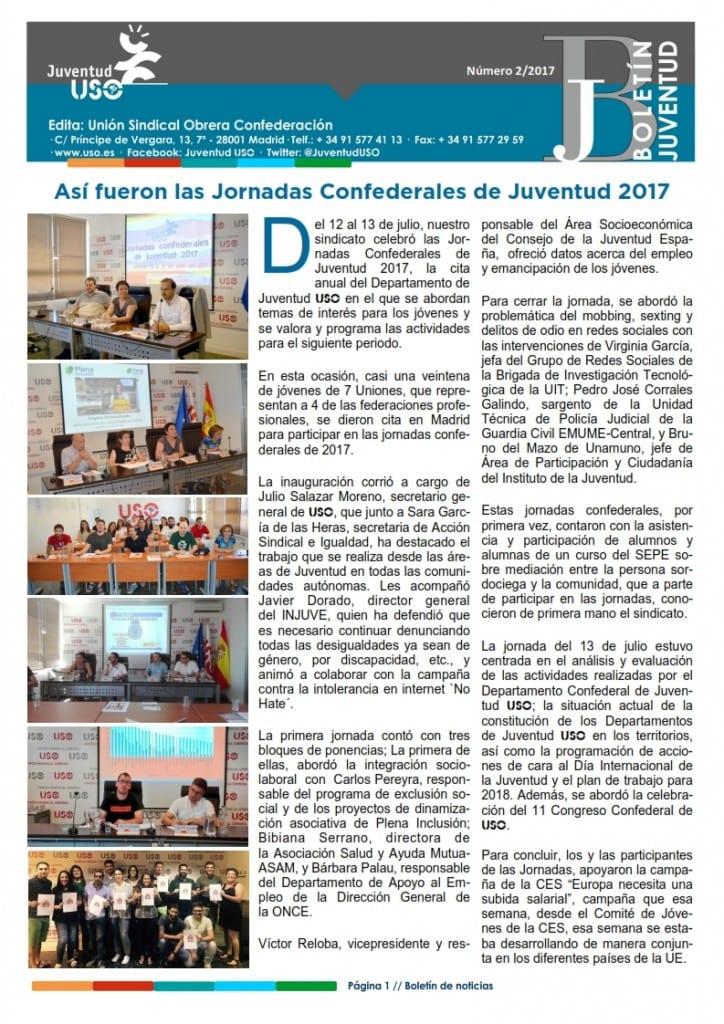 BOLETÍN JUVENTUD 2-2017_Portada