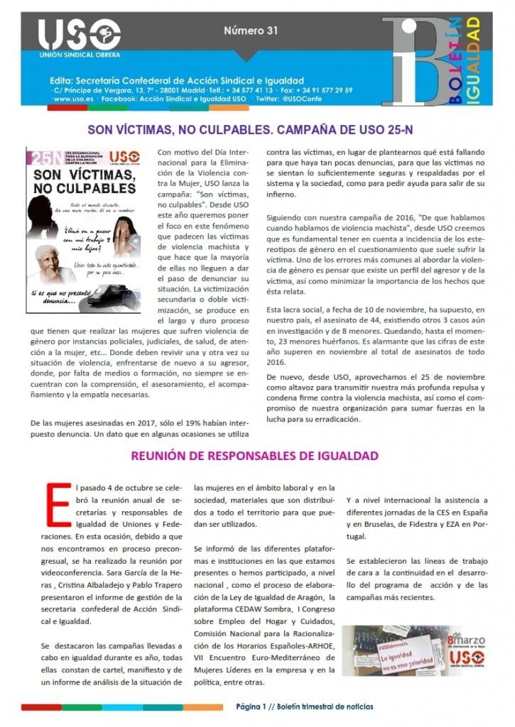 Boletín Igualdad nº 31_Portada
