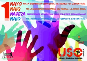 1 de mayo: Por la regeneración democrática, del trabajo y la justicia social