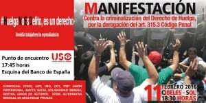 #HuelgaNoEsDelito Manifestacion 11F
