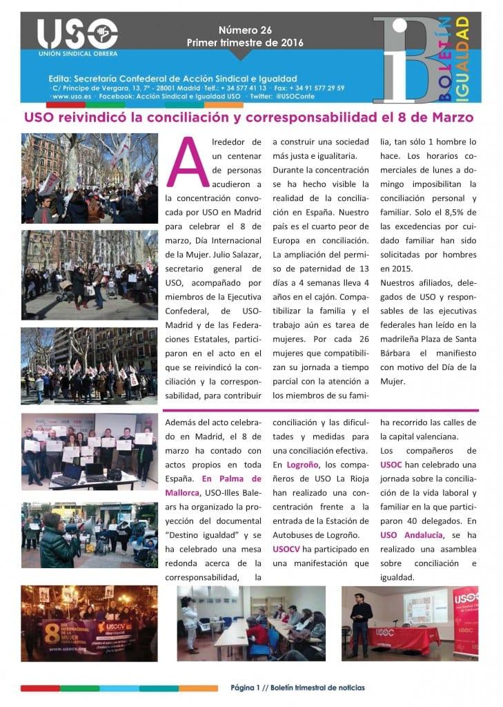 Boletín de Igualdad Nº26 Portada