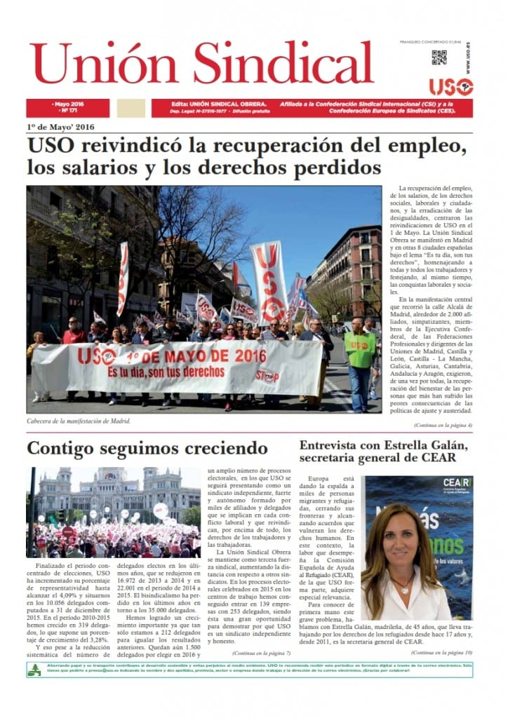 Union Sindical num 171 mayo 2016_001