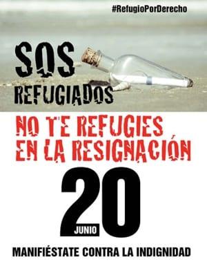 Manifestación 20J Día del Refugiado