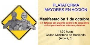 Manifestación sindicato USO Sistema Público Pensiones