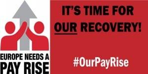 USO Campaña Europa necesita un aumento salarial