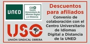 Convenio USO-Centro Universitario de Idiomas Digital a Distancia de la UNED