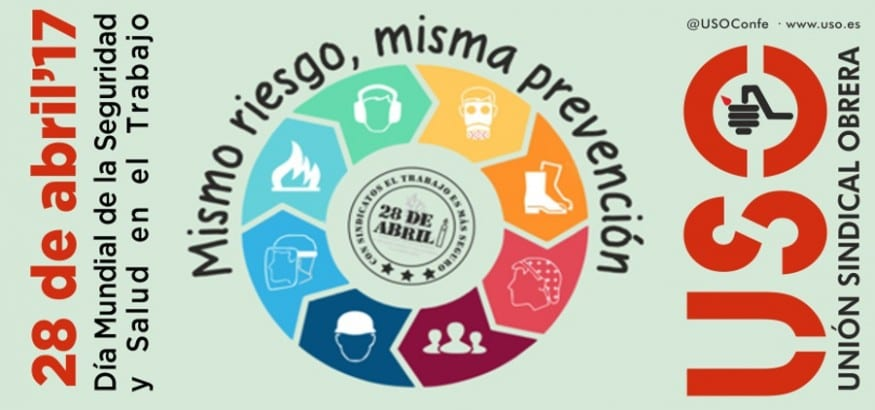 USO movilizaciones 28abril #MismoRiesgoMismaPrevencion