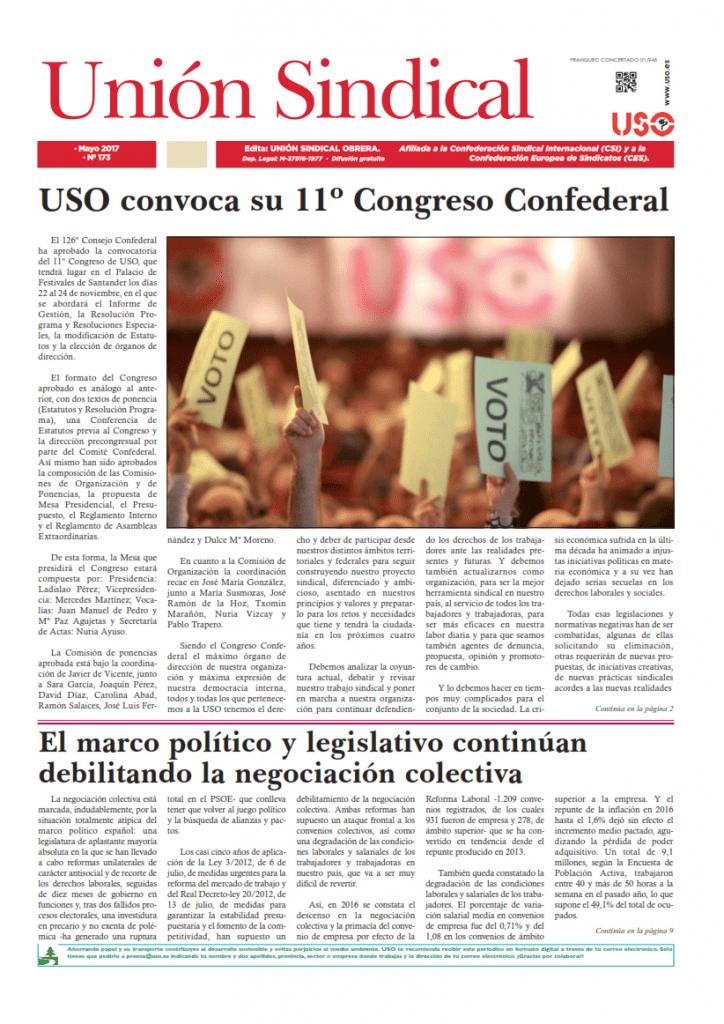 Periódico n 173 Unión Sindical Obrera mayo 2017 1_001
