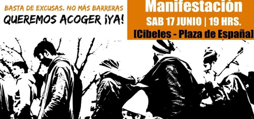 17J Manifestacion #QueremosAcogerYa