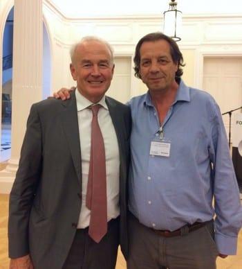 John Evans, secretario general de TUAC con Santiago González, de Acción Internacional USO.