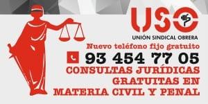 Teléfono gratuito de consultas jurídicas para afiliad@s