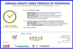 banner Jornada Debate Permisos de Paternidad 260617