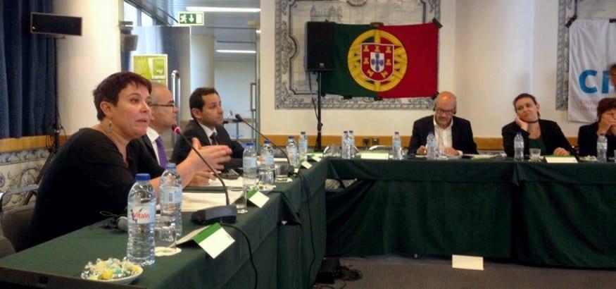 Sara García de USO Seminario Locales Saludables Lisboa