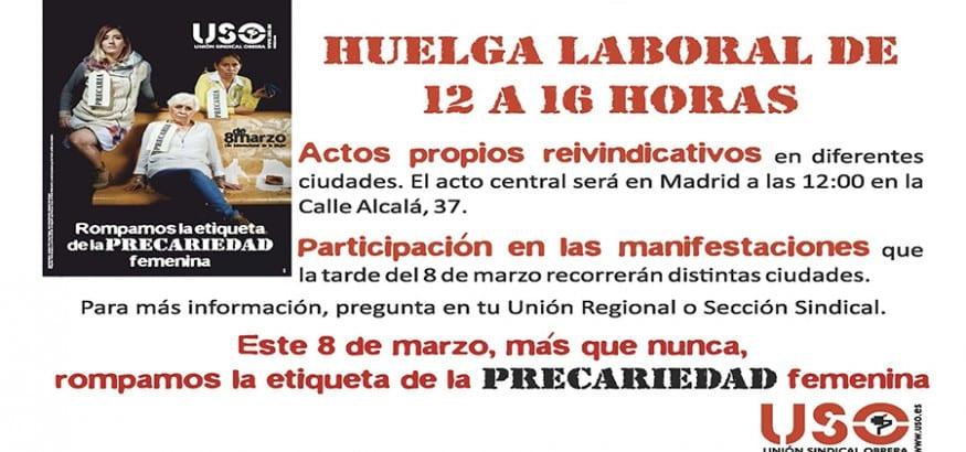 USO_Huelga_Laboral_8Marzo