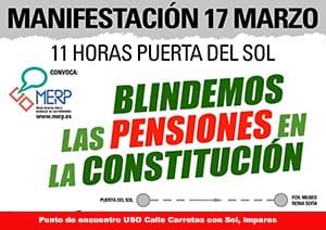 Manifestación MERP #BlindarLasPensiones17M
