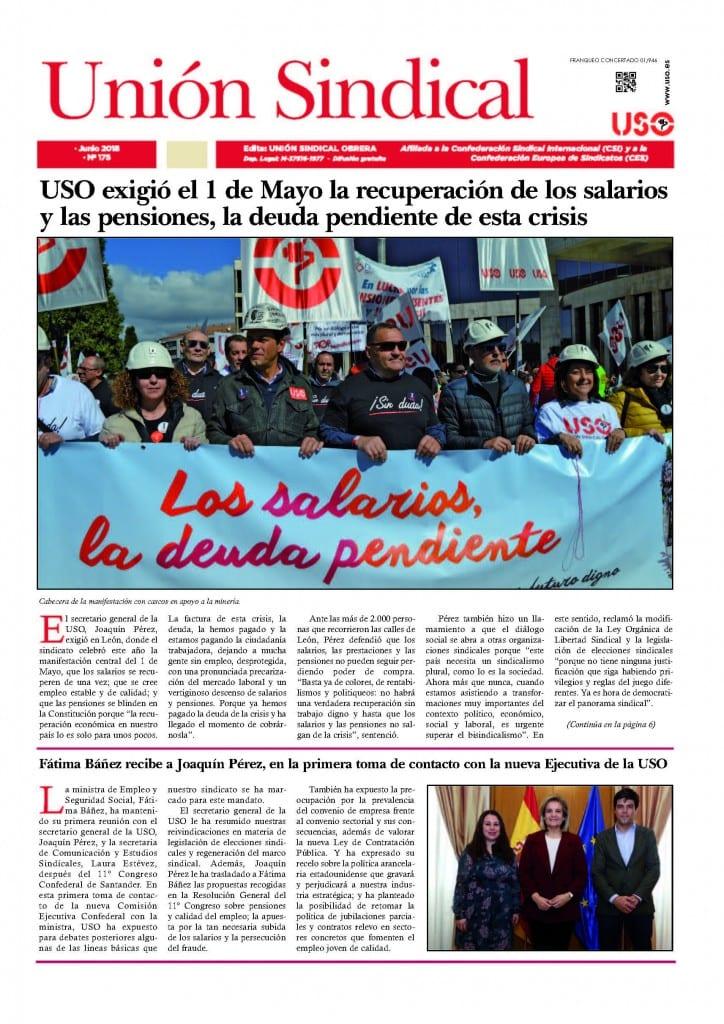 Unión Sindical 175-Junio 18