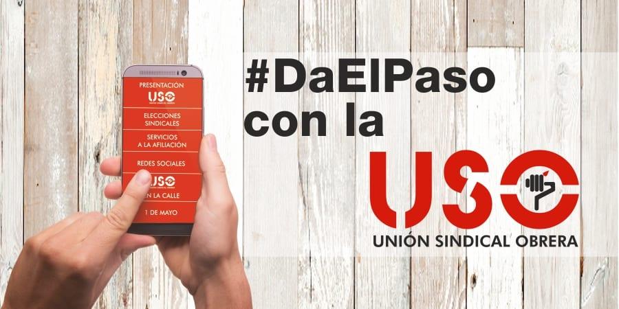 Cartel de elecciones sindicales de USO - Da el paso