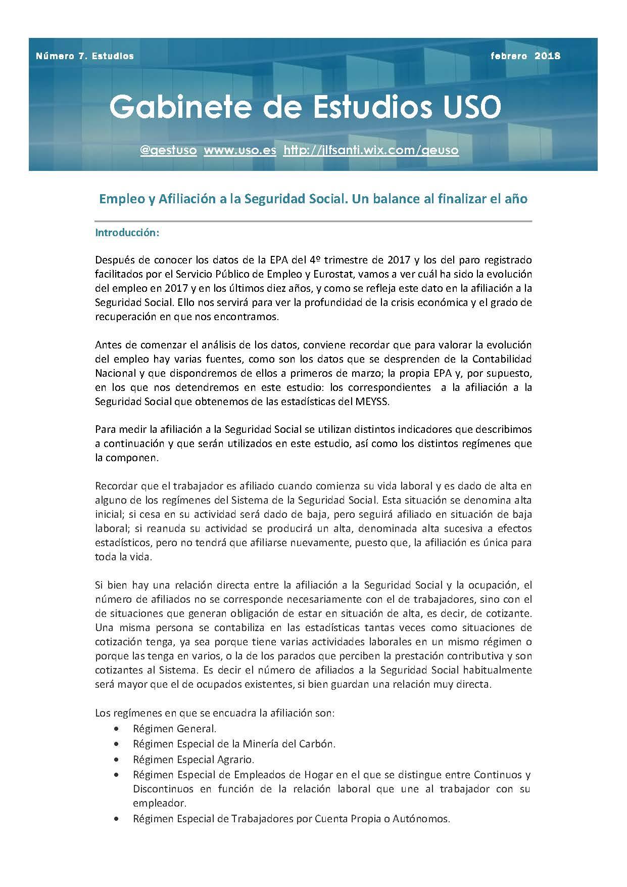 Estudio USO – Radiografía socioeconómica y laboral de Galicia | USO