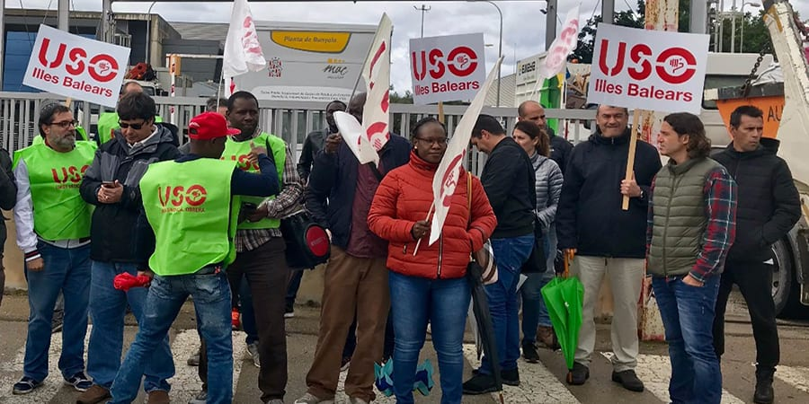 USO_Balears_protesta_Deixalles