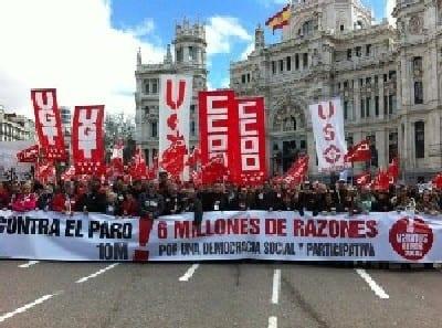 Miles de españoles salen a las calles en 60 ciudades contra el paro, los recortes y por la regeneración de la democracia