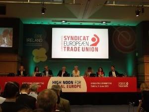 Líderes sindicales europeos exigen fuertes inversiones para la recuperación y crecimiento del empleo