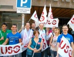 USO se manifiesta ante la Embajada de Turquía en Madrid