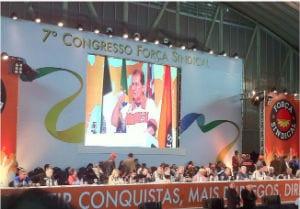 7º Congreso de Força Sindical de Brasil
