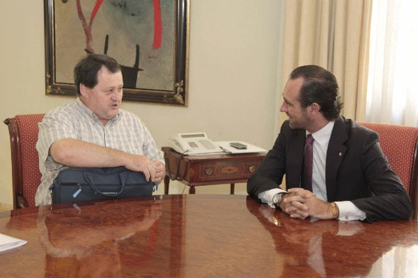 Julio Salazar se reúne con el Presidente de Baleares José Ramón Bauzá