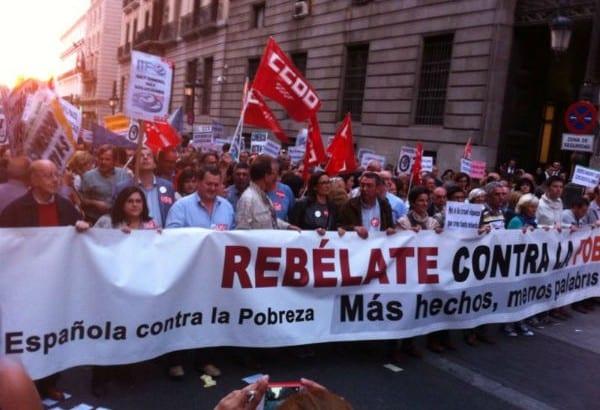 Manifestaciones en el Día Mundial por la Erradicación de la Pobreza