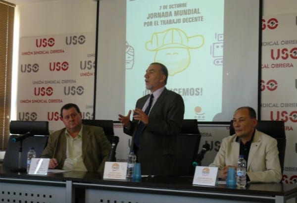 La USO debate en la celebración de la Jornada Mundial por el Trabajo Decente
