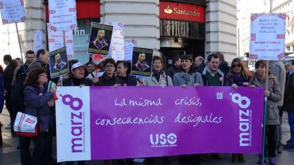 La USO se concentra con motivo del Día Internacional de la Mujer