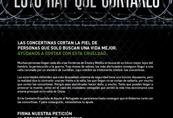 USO apoya la campaña de CEAR en defensa de los derechos humanos en las fronteras de Ceuta y Melilla (2)