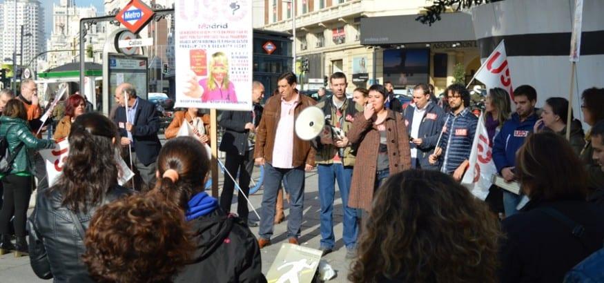 USO se concentra contra la Violencia Machista en Madrid