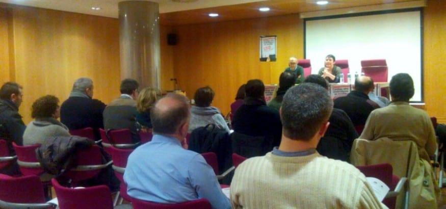 Asamblea formativa en la sede USO en Santiago de Compostela