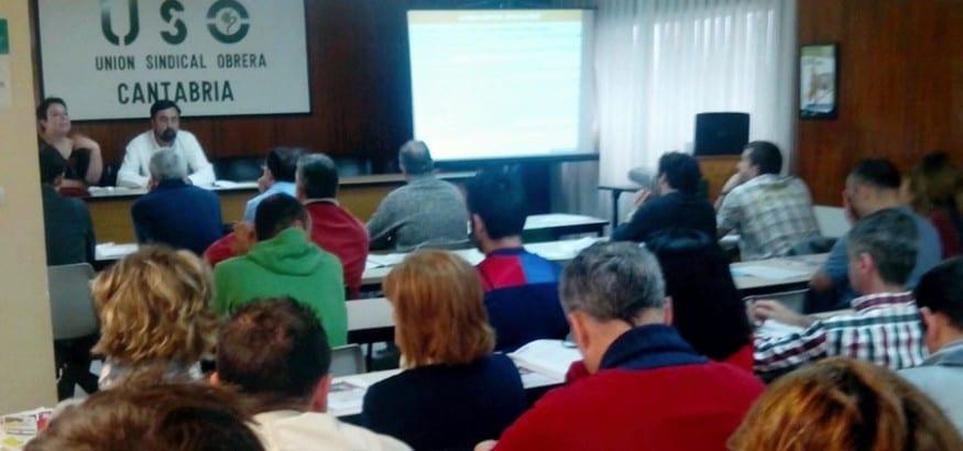 USO Cantabria celebra una asamblea formativa sobre negociación colectiva y Ley de Mutuas
