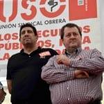 Julio Salazar, secretario general de USO, junto con Javier Blanco, de USO-Madrid