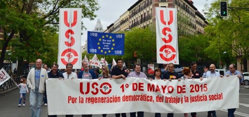 Miles de personas reivindican con USO la regeneración democrática, social y sindical en el 1 de Mayo