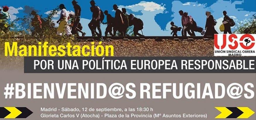 12-S: Manifestación por una política europea responsable para los refugiados
