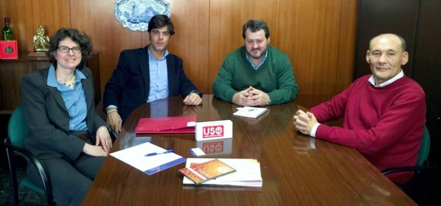 USO se reúne con la nueva secretaria general de EZA, Sigrid Schraml