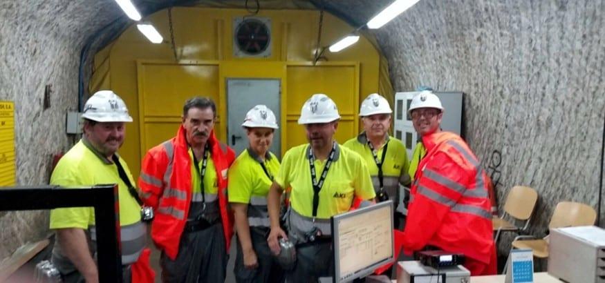 Visita a la mina de Iberpotash en Súria