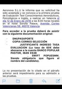 Correo Selección Air Europa Express