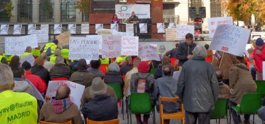Recogida de firmas de la MERP para exigir el blindaje constitucional de las pensiones
