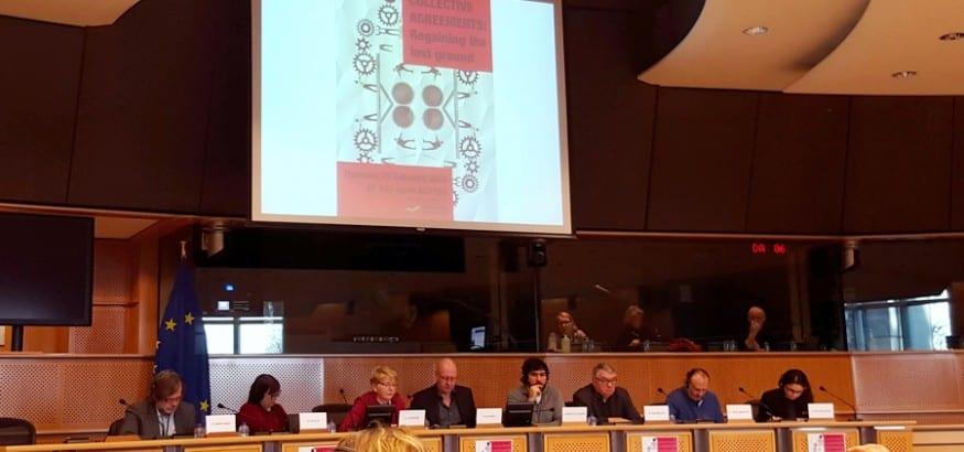 USO participa en la conferencia sobre negociación colectiva de la izquierda unitaria europea
