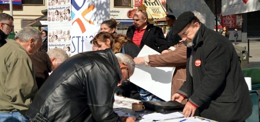 Cuarenta ciudades se movilizan en defensa de las pensiones