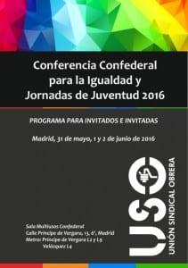 Programa de  Conferencia Confederal de igualdad y juventud 2016