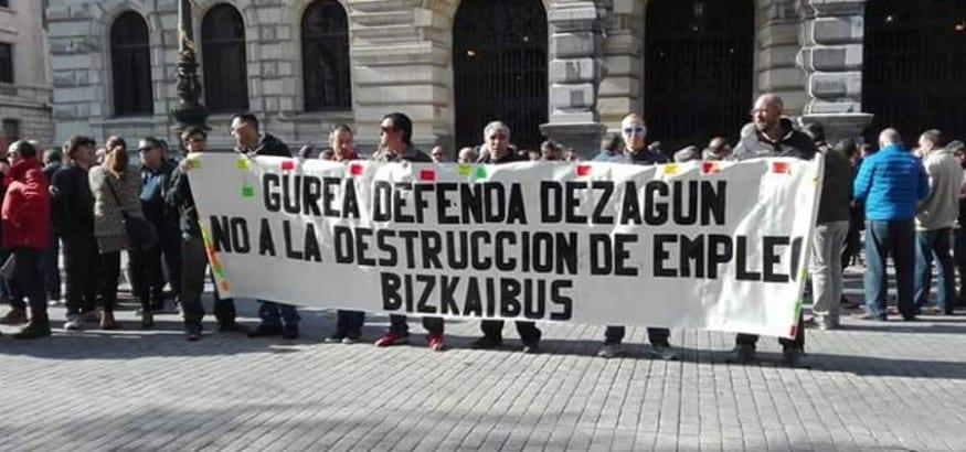 La CRS abona la huelga de Bizkaibus