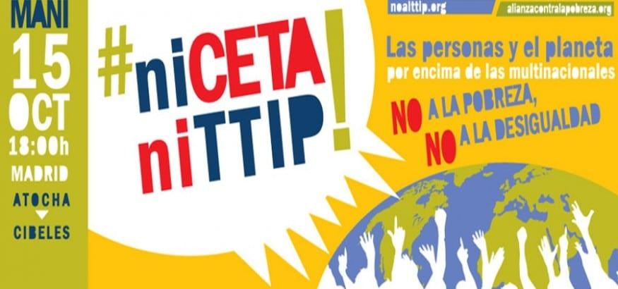 Manifestación 15OCT. Las personas y el planeta por encima de las multinacionales