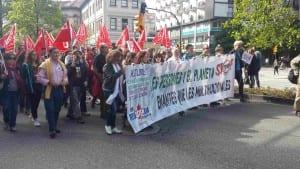 USO asturias Manifestacion NO al TTIP