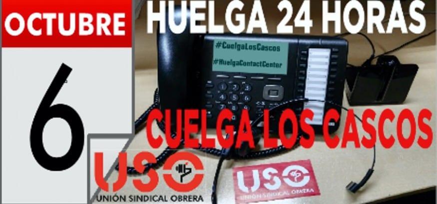 USO convoca huelga de 24 horas en Contact Center por un convenio digno