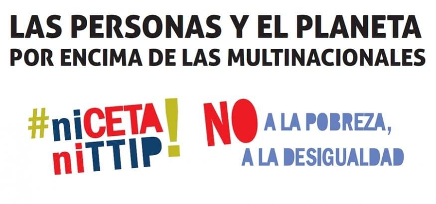Manifiesto #niCETAniTTIP No a la pobreza. No a la desigualdad